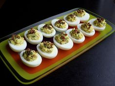 Bacon Deviled Eggs with Dill