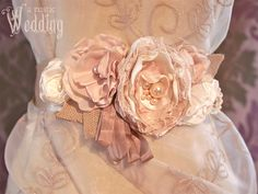 Floral Wedding Gown Sash | Sew4Home
