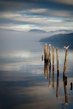 Loch Lomonds winter shroud...