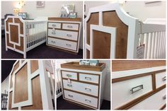 This Custom Modern Crib Features Clean Lines With Geometrical Moldings To  Complete The Contemporary Look.