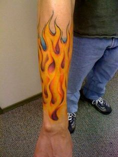 26 best Flame Sleeve Tattoos For Men images in 2017   Flame tattoos ...