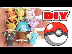 Pokémon Eeveelutions 9 in 1 polymer clay charms tutorial