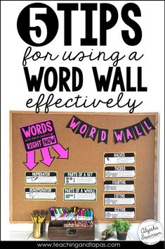 5 ideas to make your classroom word wall more interactive and effective. Even small bulletin boards can make a math or ELA vocabulary word wall! Classroom Word Wall, Math Word Walls, Classroom Bulletin Boards, Classroom Ideas, Seasonal Classrooms, Classroom Design, Future Classroom, Classroom Organization, Math Wall