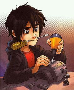 Hiro working on robotics