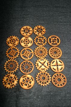 steampunk gears/cogs laser cut MDF. Not Tim Holtz.30mm.Set of 18 Cogs in Crafts, Other Crafts, Other Crafts | eBay