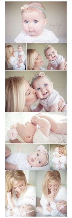 Six month old baby, lifestyle photography session - This baby is SO CUTE. I love the middle one of her sucking her toes. :3