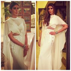 SHWETA BACHCHAN NANDA INTRODUCES JANI KHOSLA TO INDIA AND LEAVES US IN A RIGHT ROYAL SWOON. JANI KHOSLA, the International Label from The House of Abu Jani Sandeep Khosla made its India debut at the HELLO! INDIA Awards held in Mumbai tonight, on none other than the Queen of Style and constant Muse, herself, Shweta Bachchan Nanda. The off-white constructed gown, is an ode to the Sari. Embroidered in ton sur ton sequins, it is 21st century glam at its zenith. Welcome Home, #JANIKHOSLA.