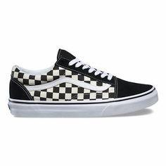 1d382094f5 Original Vans Old Skool Primary Check Black White VN0A38G1P0S Casual WOMEN