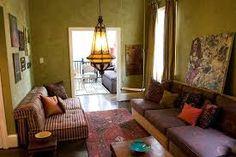 green orange living room ideas - Google Search