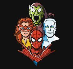 Amazing Rhapsody Spider-Man T-Shirt - The Shirt List Chibi Marvel, Hq Marvel, Marvel Heroes, Arte Dc Comics, Dc Comics Superheroes, Marvel Comic Character, Marvel Characters, Marvel Universe, Stan Lee Spiderman