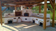 Kerti konyha - Veresegyház Outdoor Kitchen Plans, Backyard Kitchen, Outdoor Kitchen Design, Backyard Patio Designs, Backyard Projects, Outdoor Sofa Cushions, Brick Grill, Outdoor Fireplace Designs, Pizza Oven Outdoor
