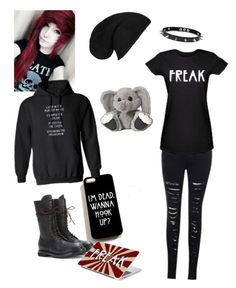 """AHS"" by whovian-bubblez ❤ liked on Polyvore featuring moda, Coven, Rick Owens, 21 Men y Trend Cool"