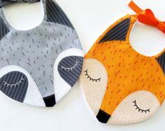 Fox - Raccoon Baby Bibs PDF E Sewing Pattern