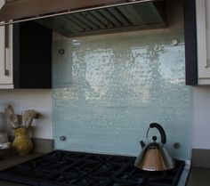 Fusion Glass Panel Behind Stove