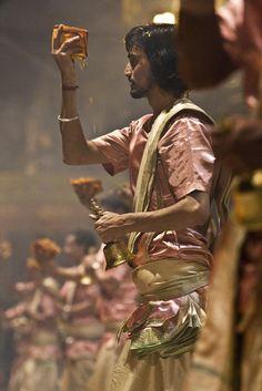 puja ceremony, dashashwamedh ghat, varanasi, india #hindu