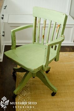 paint wood chair with green milk paint office chair for willu0027s desk