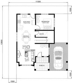 Four Bedroom Two Storey Contemporary Residence - Pinoy House Plans House Floor Design, Two Story House Design, Two Story House Plans, Small House Design, Bungalow Haus Design, Modern Bungalow House, Contemporary House Plans, Modern House Plans, The Plan