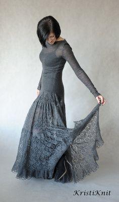 Рука вязаные мохер платье от KristiKnit на Etsy