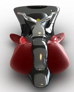 FLYING MOTORCYCLE CONCEPT    However, this fantasy has been given shape by Gonzalo Guerrero, who has just designed a flying motorcycle! This flying motorcycle, which has been called Machine_Fly, looks sleek and shiny; the silver handle, and yellow buttons matching with the black and red exterior make you want to ride the bike at the very instant you get a glimpse of it. Looking at the bottom you will see