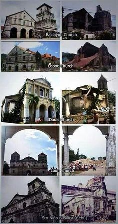 Philippines churches damaged by the recent earthquake with intensity, October 2013 Recent Earthquakes, Us Beaches, Cebu, Grand Hotel, Southeast Asia, Surfing, Places To Visit, Island, Mosques