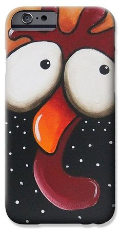 The odd chicken iPhone 6 Case by Lucia Stewart