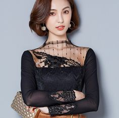 Women Clothing Names Key: 5959535722 Trendy Fashion, Womens Fashion, Trendy Style, Feminine Style, Feminine Fashion, Women Sleeve, Lace Tops, Clothes For Sale, Sleeve Styles