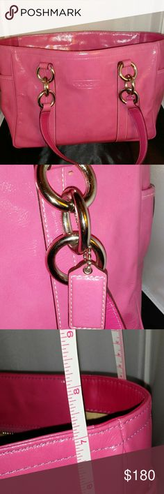 COACH PINK LIKE NEW PURSE Brand new used 1 time. Beautiful pink. Missing strap Coach Bags Shoulder Bags