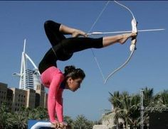 Robin Hood has nothing on her...    To achieve your goals you have to aim at your target!