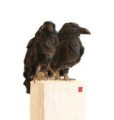 Couple de corbeaux