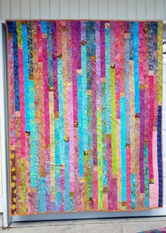 Vertical Jelly Roll Race Quilt | Flickr - Photo Sharing!