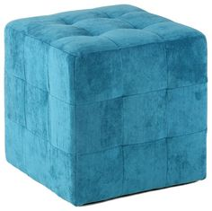 Braque Cube Ottoman, Blue modern-ottomans-and-cubes