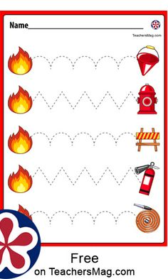 Fire Safety Crafts, Fire Safety For Kids, Fire Crafts, Fire Safety Week, Fire Kids, Preschool Fire Safety, Child Safety, Fire Prevention Week, Preschool Activities