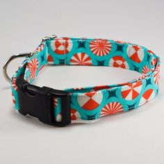 Peppermint Candy Christmas Handmade Dog Collar by DesignsByJinx