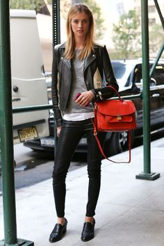 10 Fresh Ways to Wear Black Leather Inspired by Model Street Style   The Front Row View