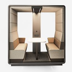 Hush Open Booth | acoustic meeting pod | My Office Pod Office Pods, Industrial Office Design, Translucent Glass, Open Office, Safety Glass, Built Environment, Hush Hush, Floor Chair, Acoustic