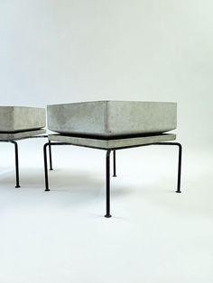 Bruno Rey; Molded Fiber Cement Planter for Eternit, 1960s. Architectural Planter.: