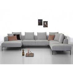 Omera hoekbank in 2019 Living Room Sofa, Living Room Decor, Living Rooms, Best Corner Sofa, Depot Design, Sofa Design, Interior Design, Altea, Home Decor Colors