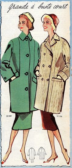 the 1950s-1957 autumn fashion...