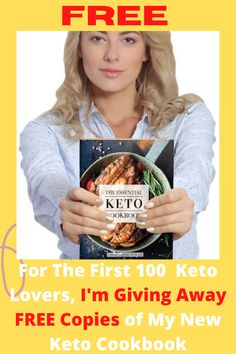 I'm giving away FREE copies of my latest cookbook for the first 100 Keto lovers. Enjoy this Keto Bread Plus 100 + other delicacies! The Keto Basic Cookbook of over 100 Keto Recipes for breakfast, cocktails, sweets, snacks, and appetizers. For any recipe, the net starch, fat, protein and caloric counts. Enjoy recipes include Fluffy breakfast Porridge, Spicy Buffalo Wings, Mini Burgers, Jalapeño Corn Bread and Tacos. #keto #ketodiet #ketodietplan #ketodietcookbook #ketocookbook #ketofood