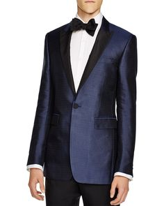 Burberry London Silk Jacquard Regular Fit Tuxedo Jacket