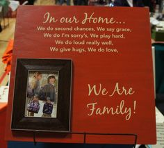 In our Home / We are family saying by Frame your by Frameyourstory, 69.00