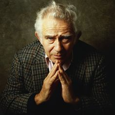 """Norman Mailer (1923 - 2007) Pugilistic modern American author, """"The Naked and the Dead"""", """"The Executioner's Song"""""""