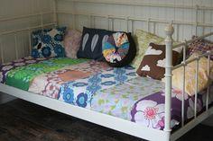 Sew retro vintage pillow cathrineholm Vintage Pillows, Retro Vintage, Toddler Bed, Sew, Kids, Furniture, Home Decor, Vintage Cushions, Child Bed
