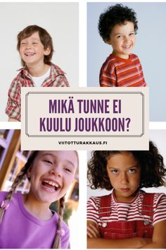 Mikä tunne ei kuulu joukkoon? - Viitottu Rakkaus Early Childhood Education, Social Skills, Presentation, Teacher, Student, How To Plan, Feelings, School, Ideas
