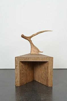 Stag Stool (natural), 2009. Plywood and Antlers // Rick Owens