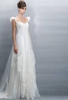 Claire Pettibone dress (perfect austen designer...) - Loving the silhouette for all maids' looks- empire, cap sleeves, flowing overlay w/out being bulky - very romantic