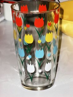 Tulips in the Kitchen....cute swanky swig glass