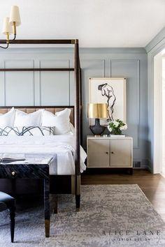 The Brinton - Alice Lane Home Interior Design Home, Blue White Bedroom, Bedroom Interior, Stylish Bedroom, House Interior, Modern Bedroom, Small Bedroom, Home Interior Design, Interior Design Bedroom