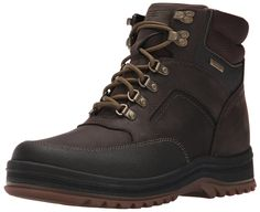 Rockport Men's World Explorer Waterproof Mid Snow Boot: Dual gender, wearable (in the city) winter boots for an unpredictable climate. Pack boot functionality, colors and fun in a package that is all day wearable. Snow Boots, Winter Boots, Mans World, Hiking Shoes, Just For You, Footwear, Leather, How To Wear, Stuff To Buy