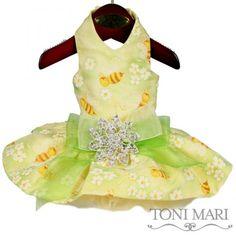 Cute As Can Bee Fancy Dog Dress - Toni Mari - $74.50